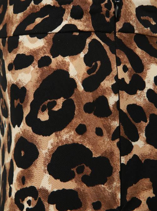 Állati gepárd bőr szoknya