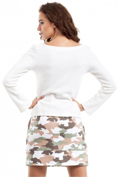 Női szoknya katonai nyomtatással