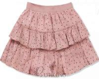 Rövid rózsaszín pöttyös réteges szoknya