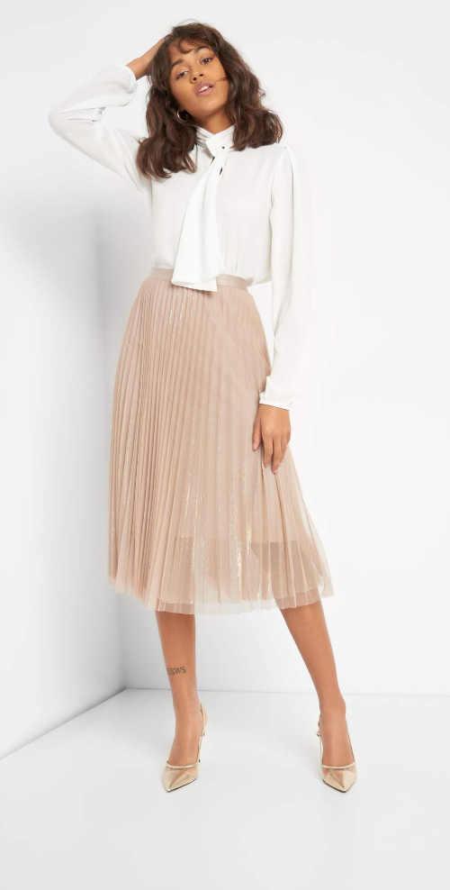 Divatos női rakott tüll szoknya kényelmes midi hosszúságban