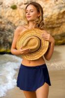 Rövid tengerparti szoknya kék színben
