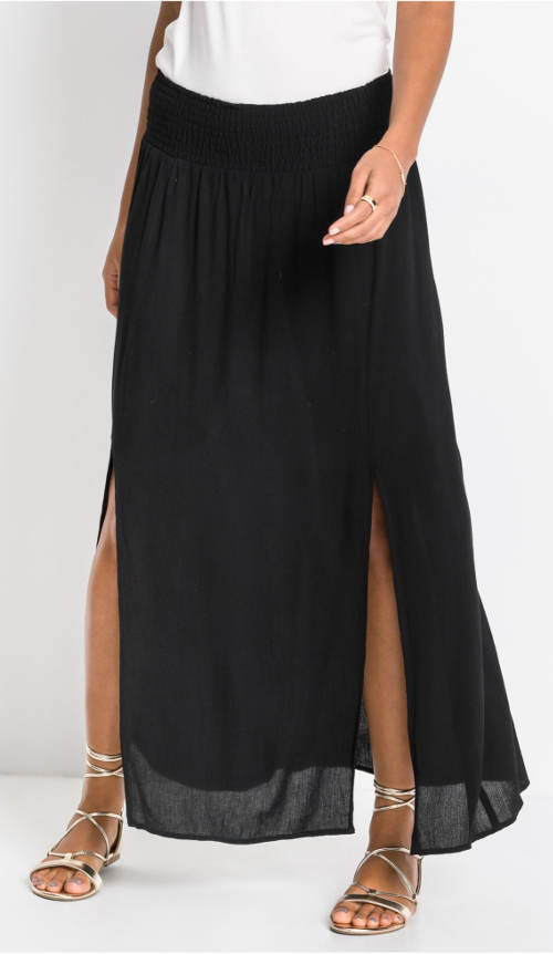 Hosszú fekete női szoknya hasítékkal
