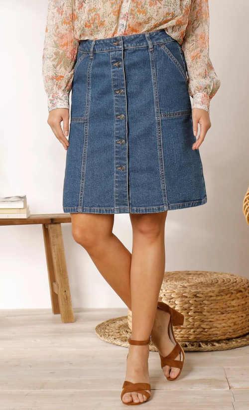 Kék farmer szoknya nőknek