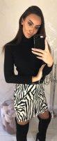 Női rövid zebra szoknya