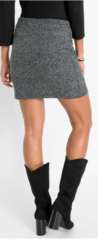 Szürke szürke rövid női téli szoknya