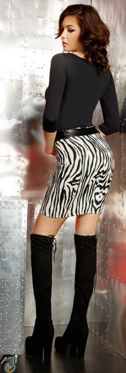 Zebra miniszoknya